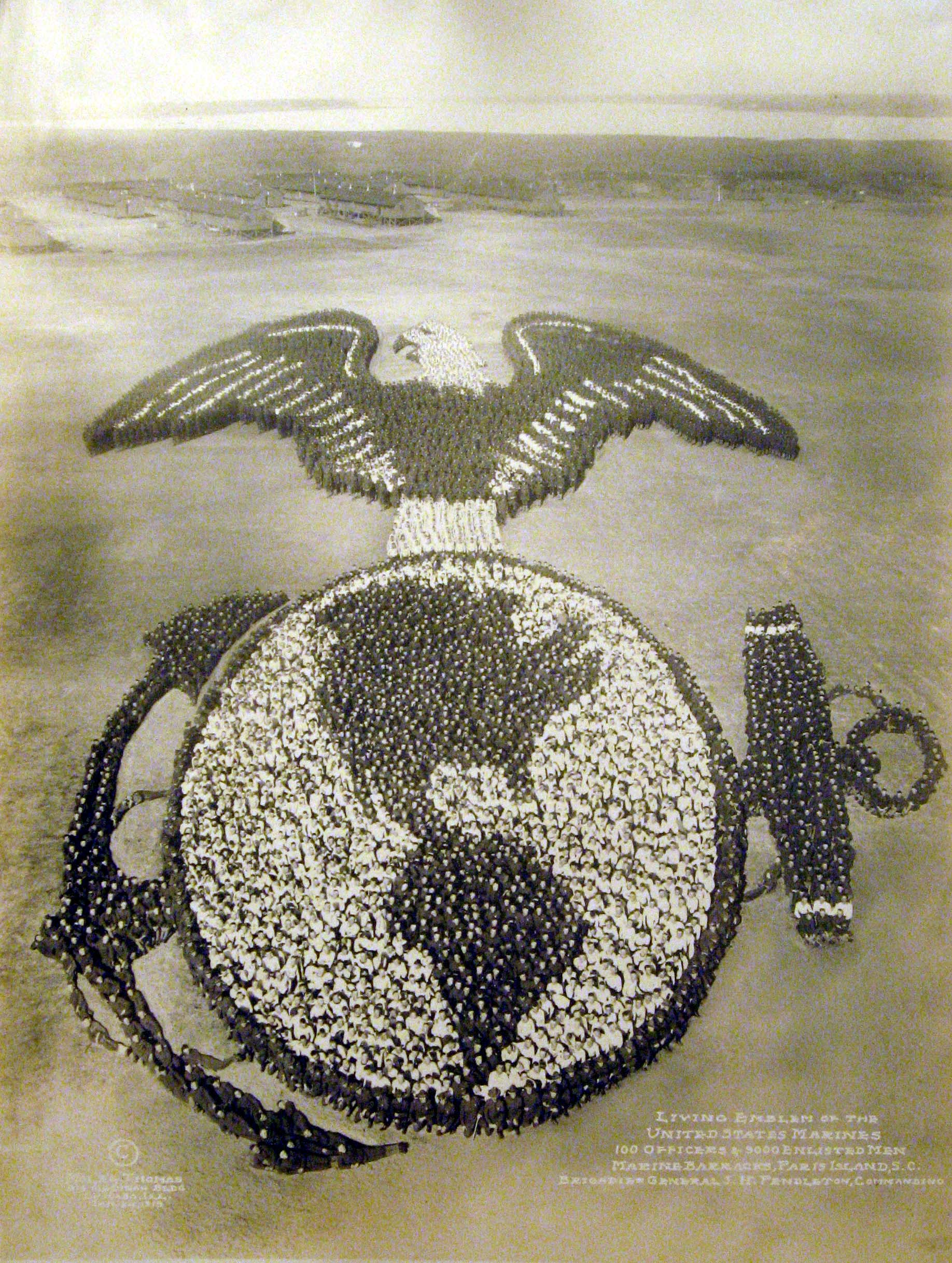 Marines Posing As Marine Logo
