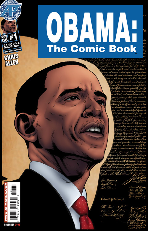 Barack Obama Comic Book Cover